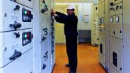 Engineer Unlocks And Activates Equipment Stock Footage