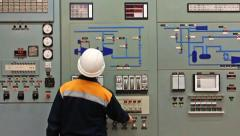 Engineer Disables Alarms Stock Footage