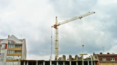 Large Tower Crane Timelapse - stock footage