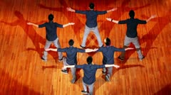 Six guys Poreotics team dance on contest HHI - Cup of Russia Stock Footage