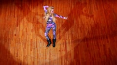 Young girl dance on contest at HHI - Cup of Russia, Championship IV Stock Footage