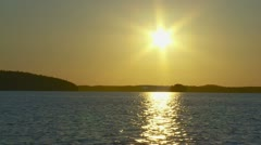 Sunset over an lake - stock footage