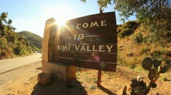 Simi Valley Sign 3 Stock Footage