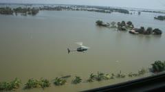 Thailand Flood aerials Oct 25 file 0067 Stock Footage