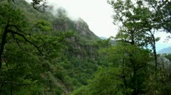 Mountains and Clouds in Madeira 20120225 131450 Stock Footage