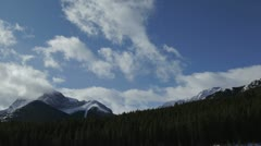 Stock Video Footage of Canadian Rockies - Mount Kidd Time Lapse