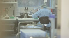 Scientist works at the laboratory Stock Footage