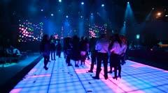 Dancing on the dance floor - stock footage