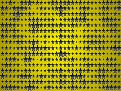 Star black yellow 7 640x480 Stock Footage