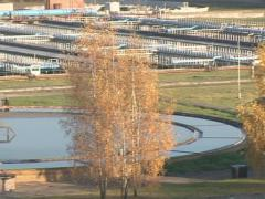 Water treatment basin Stock Footage