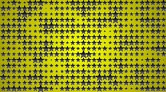 Star black yellow 7 1280x720 Stock Footage