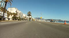 Car POV of Nice 02 Stock Footage