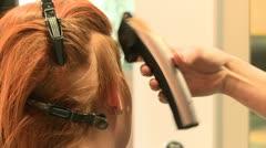 Hair stylist cutting hairs Stock Footage
