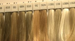 Hair extensions diverent colors Stock Footage