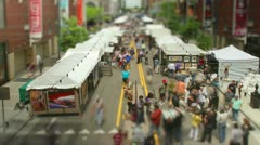 Tilt Shift Art Fair Time lapse - stock footage