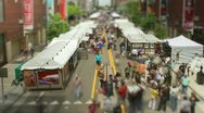 Stock Video Footage of Tilt Shift Art Fair Time lapse