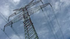 Large Power Pole Stock Footage