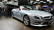 Stock Video Footage of convertible sports car Mercedes-Benz SL 3