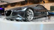Mazda concept car shinari auto show Stock Footage