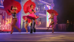 Drag Queen Asharik performs during the Gran Gala of the Carnival - stock footage