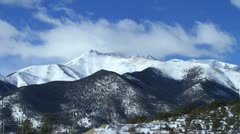 Clouds over Mount Antero Time lapse Stock Footage