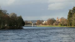 Distant view of Inverness skyline Scotland Stock Footage