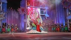 Winner of the Great Lady competition during the Gran Gala of the Carnival Stock Footage