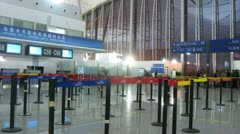 People are register in Central terminal on airport Divopu Stock Footage