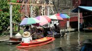 Stock Video Footage of Floating Market in Thailand