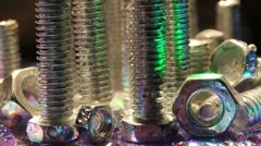 Bolts and nuts Stock Footage