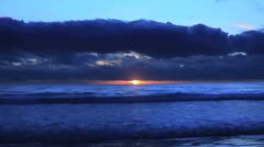 Sunset & Clouds Time lapse #2 Stock Footage