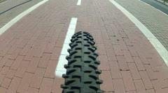 Subjective on bike Stock Footage