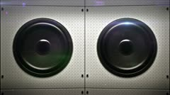 Bass speakers loopable Stock Footage