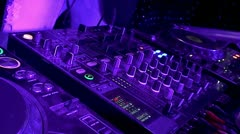 DJ turntable at the disco - stock footage