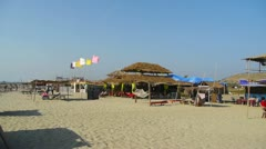 Beach cafe Stock Footage