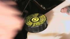 Removing/installing the brake fluid reservoir filler cap - stock footage