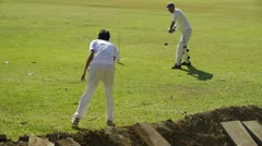 Cricket training Stock Footage