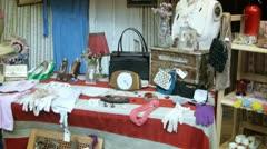 London, hackney. Vintage retro market stall Stock Footage