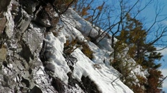 Tilt on thawing snow Stock Footage