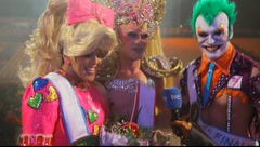 Finalists in the Drag Queen competition Stock Footage