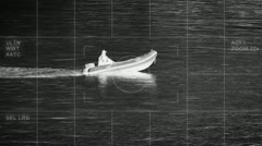 Thermal imaging boat Stock Footage