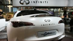 Infiniti Etherea concept sports car Stock Footage