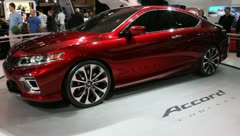 red honda accord concept - stock footage
