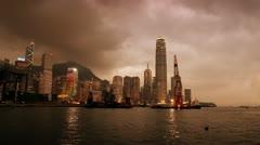 Hong Kong Sunset III Stock Footage