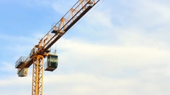 Topless tower crane Stock Footage