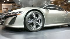 Acura nsx concept car front rim wheel Stock Footage