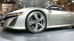 Acura nsx concept car front rim wheel Stock Footage