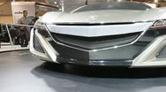Acura nsx concept car headlights Stock Footage