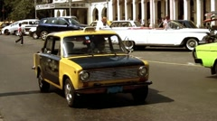 Taxies in Havana Cuba Stock Footage