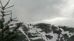 Snow covered mountain Stock Footage